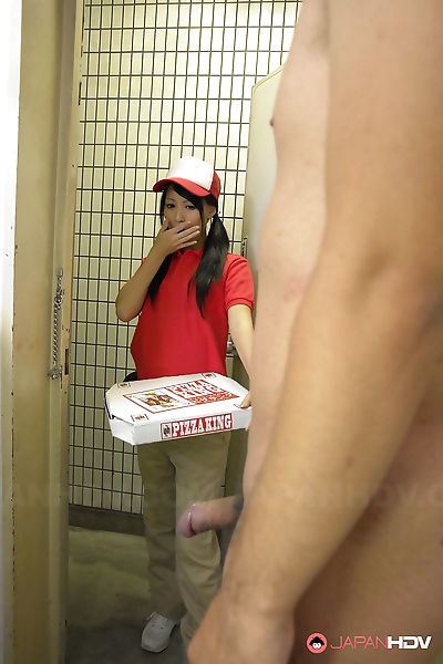 Japanese pizza delivery girl..