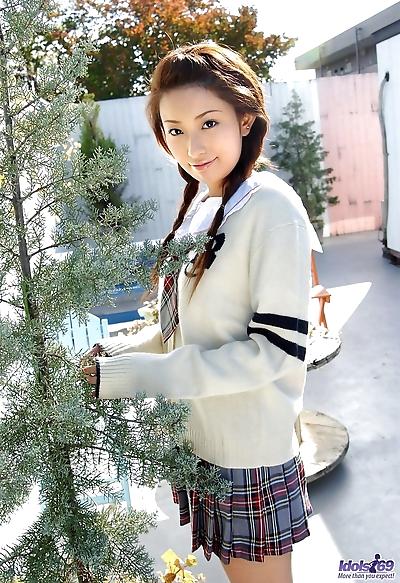 Cute Japanese schoolgirl Nao..