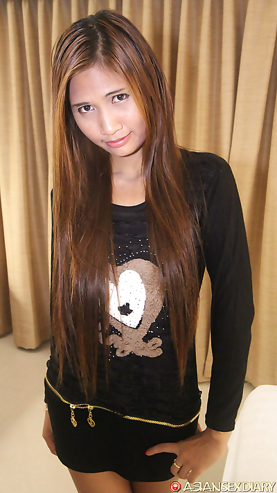 Asian girl with trim figure..
