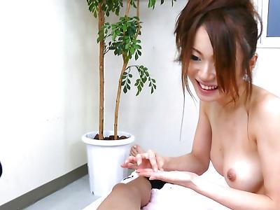 Hot Japanese masseuse Sara..