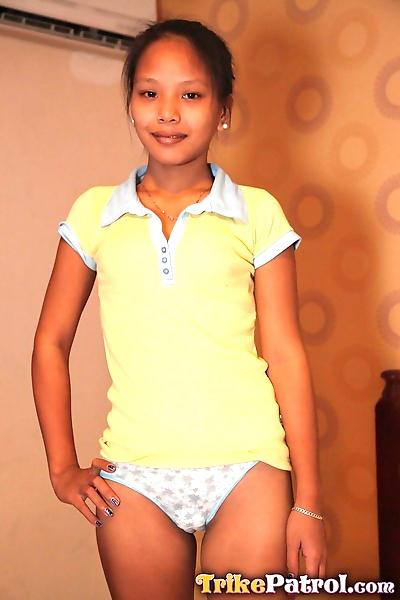 Petite Asian Danica reveals..