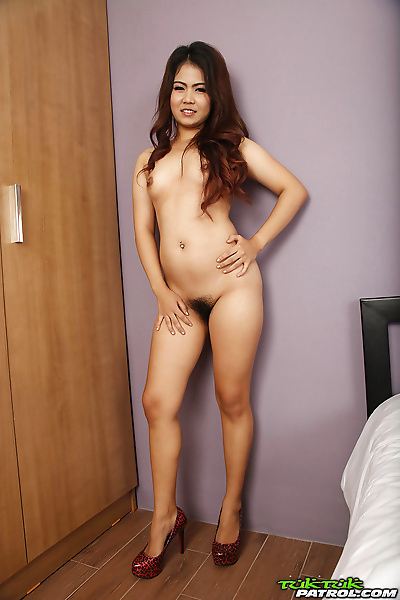 Asian solo girl strips naked..