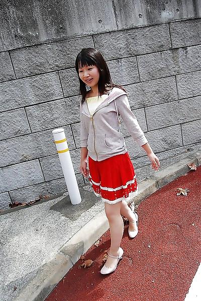 Smiley asiatique adolescent miyuki..