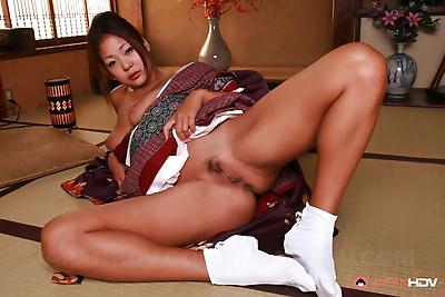 Hot Japanese beauty awakens..