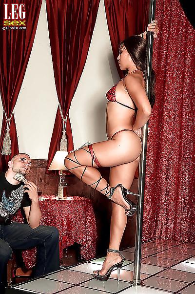 Leggy Asian MILF stripper..