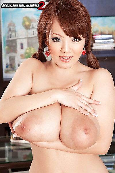 Asian big boobed redhead..