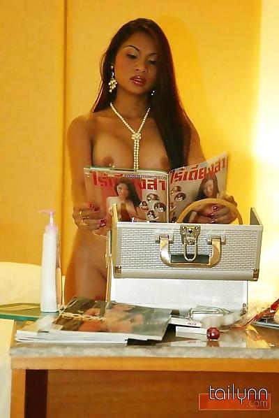 Thai goddess tailynn poses..