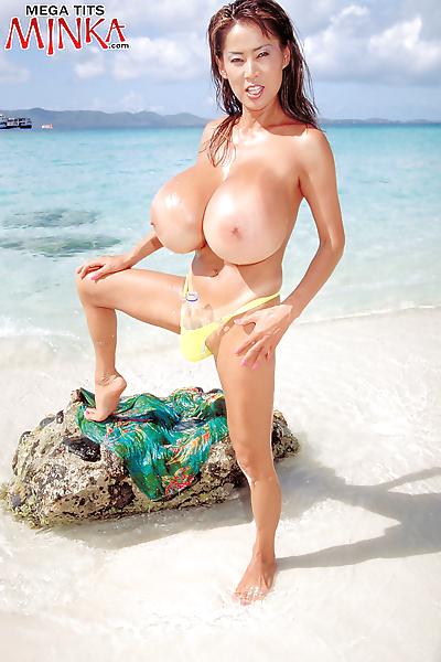 Minko showing her huge boobs..