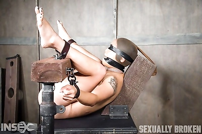 Hot asian is bound, hooded,..
