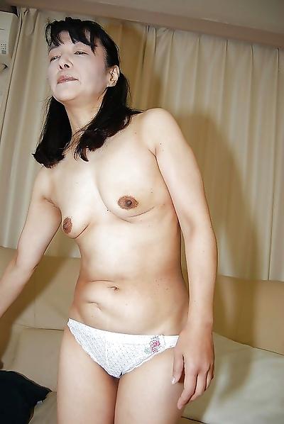 Tiny tits Asian mature Kiyoe..