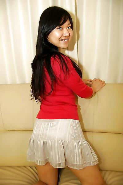 Asian teen Risa Takashima..