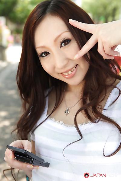 Hottie asuka souma posing outdoors - part 2545