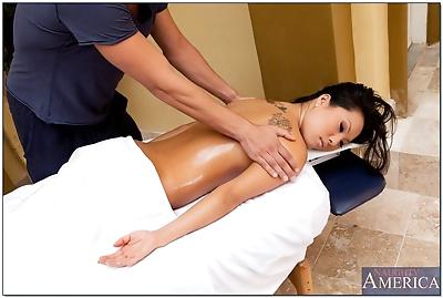 Ravishing asian lady Asa Akira gets pounded hardcore by a naughty masseur